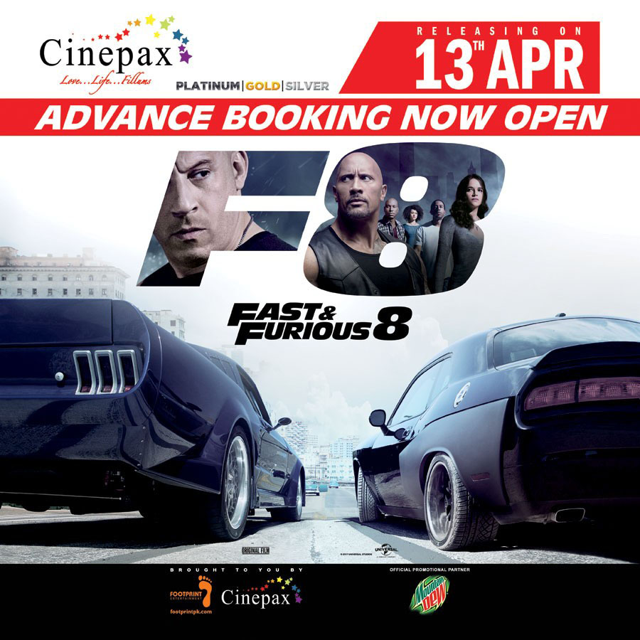 [Press Release] The Fate of the Furious is releasing all across Pakistan on 13th April 2017